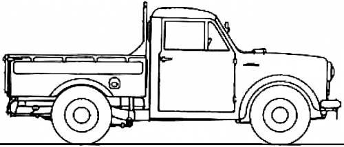 Blueprints > Cars > Datsun > Datsun 122 Pick-up (1956)
