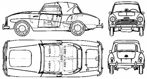 Blueprints > Cars > Datsun > Datsun Fairlady 212SPL (1961)