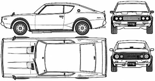 Blueprints > Cars > Datsun > Datsun Skyline C110 GT-R (1972)