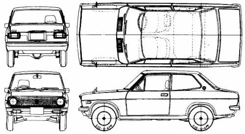 Datsun Sunny 1200 Deluxe 2-Door (1972)
