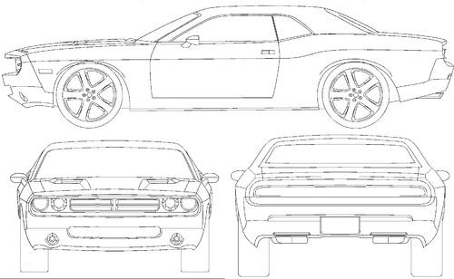 Blueprints > Cars > Dodge > Dodge Challenger (2009)