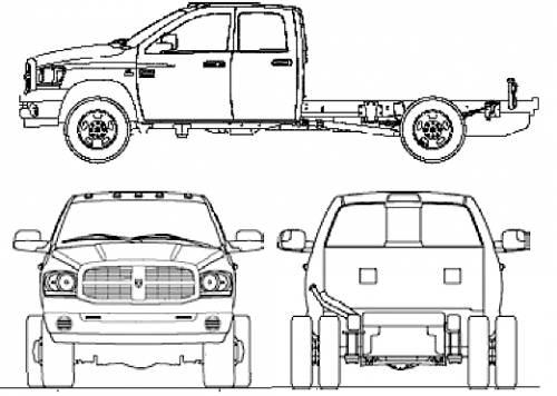 Blueprints > Cars > Dodge > Dodge Ram 3500 Ext. Cab