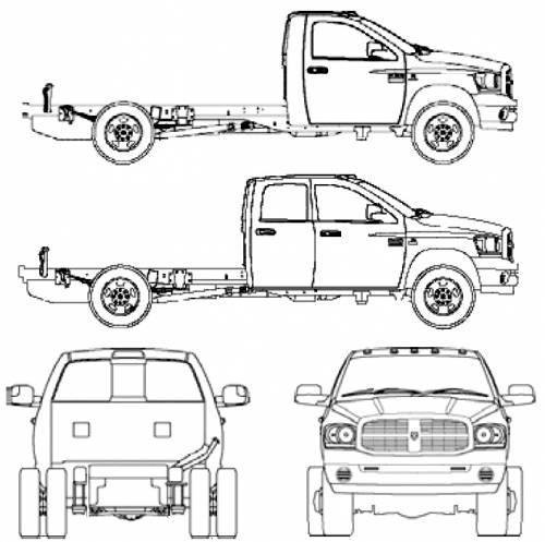Blueprints > Cars > Dodge > Dodge Ram 3500 HD (2006)