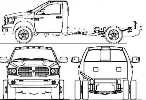 Blueprints > Cars > Dodge > Dodge Ram 3500 Reg. Cab