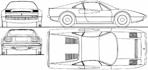 Blueprints > Cars > Ferrari > Ferrari 308GTB (1983)
