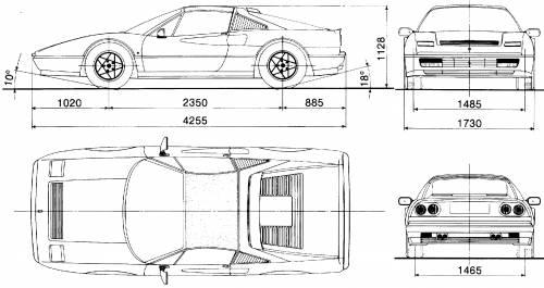 Blueprints > Cars > Ferrari > Ferrari 328 GTS (1985)
