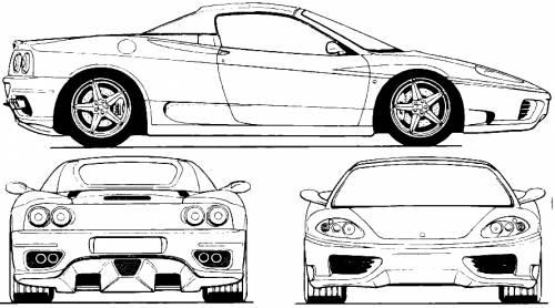 Blueprints > Cars > Ferrari > Ferrari 360 Spider (2003)
