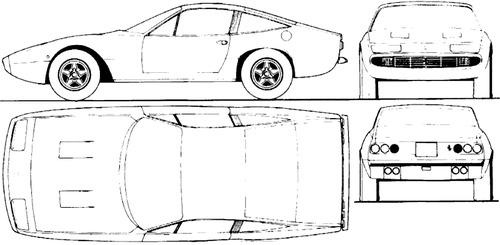 Blueprints > Cars > Ferrari > Ferrari 365 GTC4 (1974)