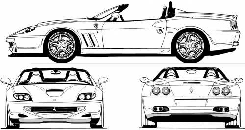 Blueprints > Cars > Ferrari > Ferrari 550 Barchetta (2001)