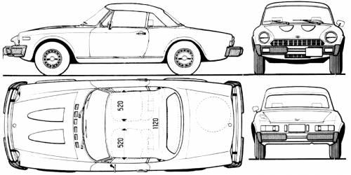 Blueprints > Cars > Fiat > Fiat 124 Spider (2000)
