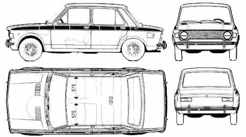 Blueprints > Cars > Fiat > Fiat 128 IAVA 1100