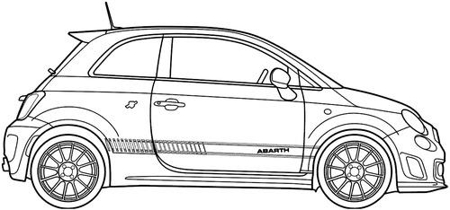 Blueprints > Cars > Fiat > Fiat 500 Abarth (2015)