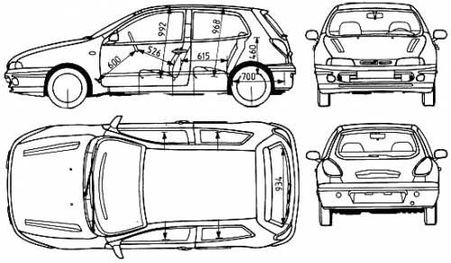 Blueprints > Cars > Fiat > Fiat Bravo
