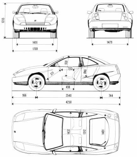 Blueprints > Cars > Fiat > Fiat Coupe 20vt (1999)