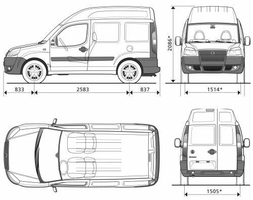 Blueprints > Cars > Fiat > Fiat Doblo Cargo SWB High Roof