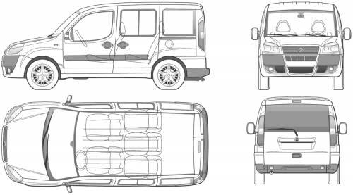 Blueprints > Cars > Fiat > Fiat Doblo Panorama (2006)