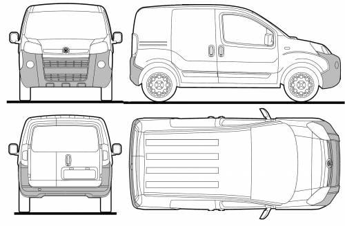 Blueprints > Cars > Fiat > Fiat Fiorino (2008)