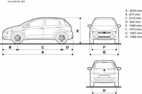 Blueprints > Cars > Fiat > Fiat Grande Punto