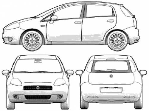 Blueprints > Cars > Fiat > Fiat Grande Punto 5-Door (2005)