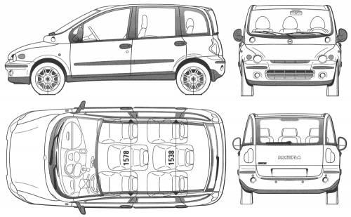 Blueprints > Cars > Fiat > Fiat Multipla