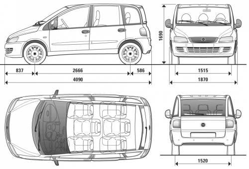 Blueprints > Cars > Fiat > Fiat Multipla (2009)