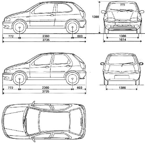 Blueprints > Cars > Fiat > Fiat Palio