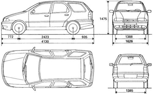 Blueprints > Cars > Fiat > Fiat Palio Weekend