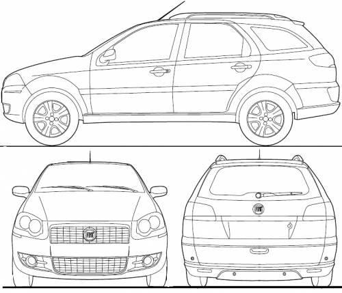 Blueprints > Cars > Fiat > Fiat Palio Weekend BR (2012)