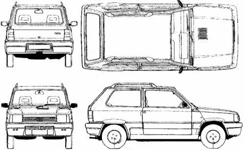 Blueprints > Cars > Fiat > Fiat Panda (1980)