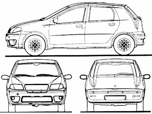 Blueprints > Cars > Fiat > Fiat Punto 5-Door (2010)