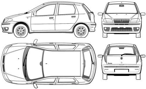 Blueprints > Cars > Fiat > Fiat Punto II 5-Door (2005)