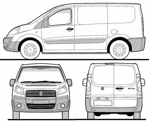 Blueprints > Cars > Fiat > Fiat Scudo Panel Van SWB (2008)