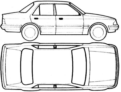 Blueprints > Cars > Ford > Ford E Orion Mk.I (1983)