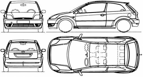 Blueprints > Cars > Ford > Ford Fiesta 3-Door (2002)