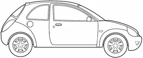 Blueprints > Cars > Ford > Ford Ka (2007)