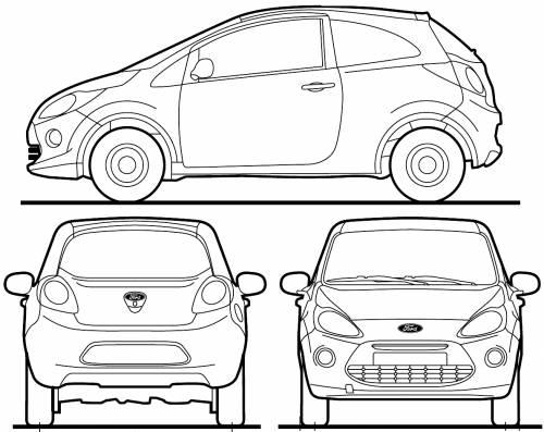 Blueprints > Cars > Ford > Ford Ka (2013)
