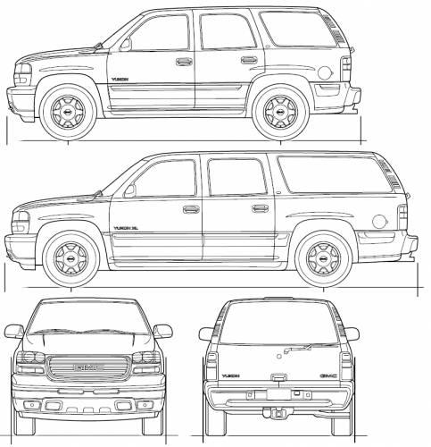 Blueprints > Cars > GMC > GMC Yukon (2006)