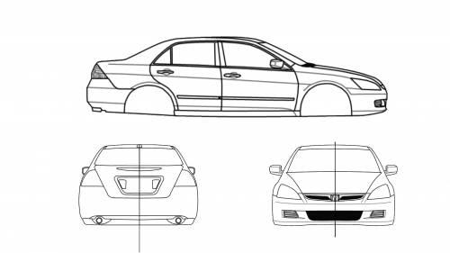 Blueprints > Cars > Honda > Honda Accord Se '07 V6