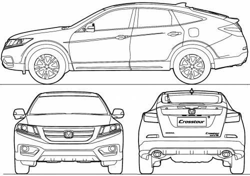 Blueprints > Cars > Honda > Honda Crosstour (2013)