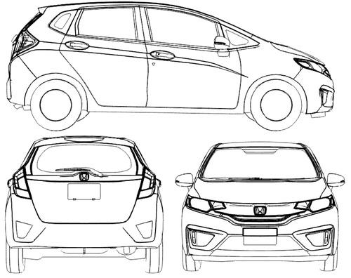 Blueprints > Cars > Honda > Honda Fit (2014)