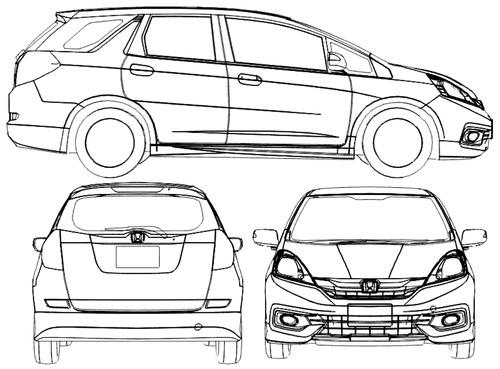 Blueprints > Cars > Honda > Honda Fit Shuttle (2014)