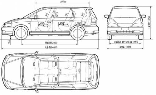 Blueprints > Cars > Honda > Honda Odyssey