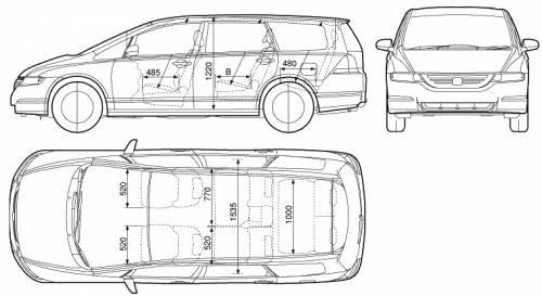 Blueprints > Cars > Honda > Honda Odyssey (2005)