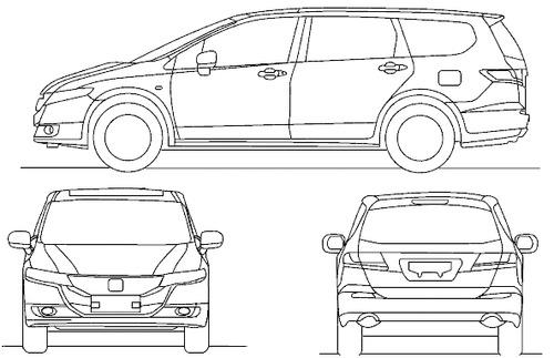 Blueprints > Cars > Honda > Honda Odyssey (2014)