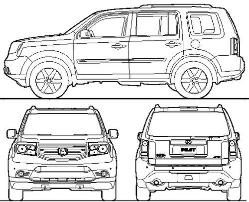 Blueprints > Cars > Honda > Honda Pilot (2014)