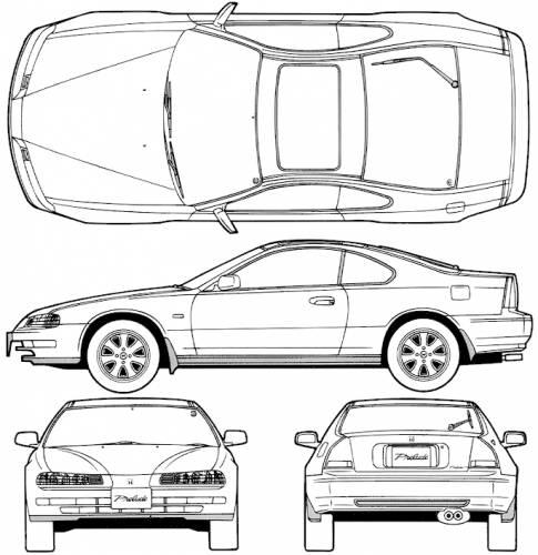 Blueprints > Cars > Honda > Honda Prelude Si VTEC 4WS (1991)