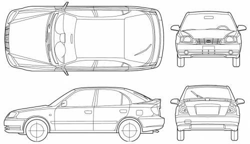 Blueprints > Cars > Hyundai > Hyundai Accent 5-Door (2005)