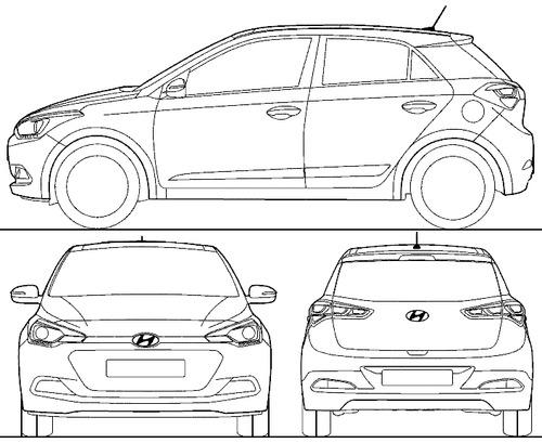 Blueprints > Cars > Hyundai > Hyundai i20 (2015)