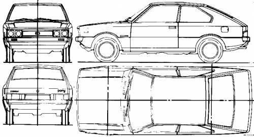 Blueprints > Cars > Hyundai > Hyundai Pony 2-Door (1975)