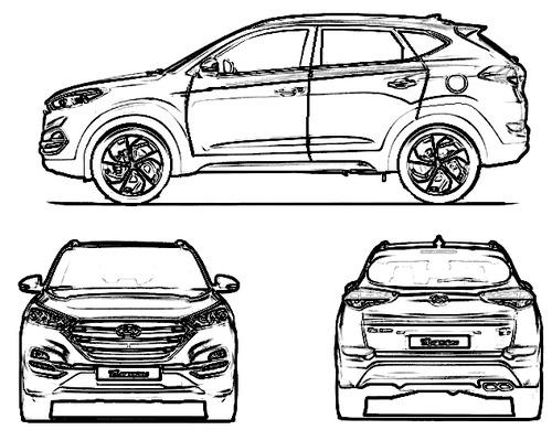 Blueprints > Cars > Hyundai > Hyundai Tucson (2015)